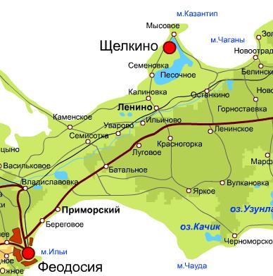 карта, Мыс Казантип, Азовское море