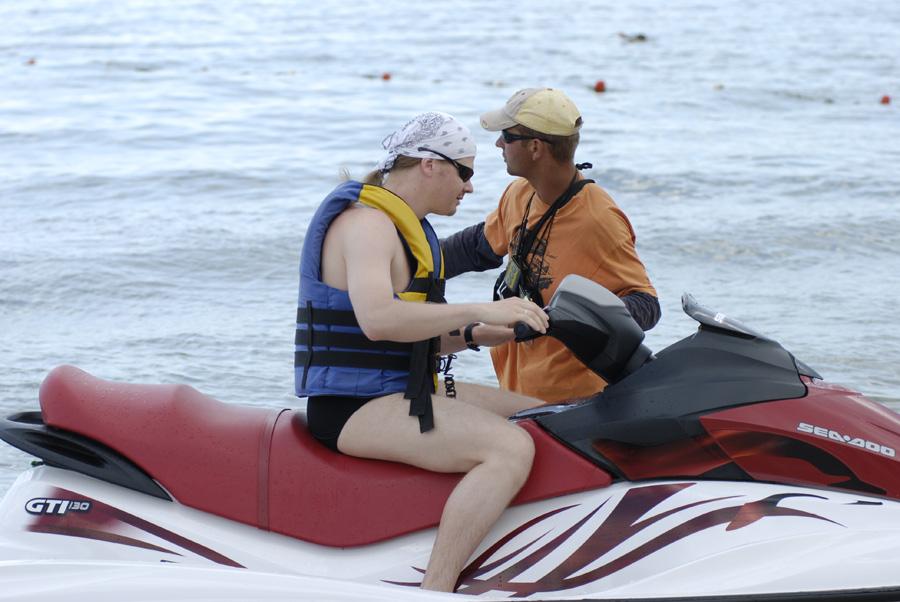 Инструктаж перед катанием на водном мотоцикле
